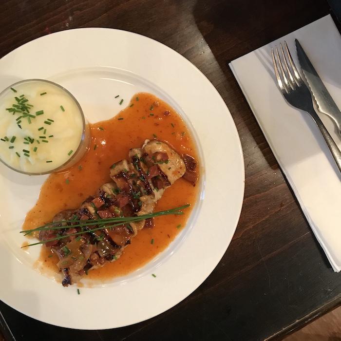 lomo de cochon Les Négociants Restaurant